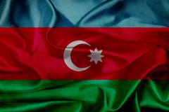 Stock Illustration of azerbaijan grunge waving flag