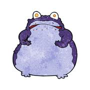 Stock Illustration of cartoon fat frog