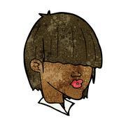 Stock Illustration of cartoon fashion haircut