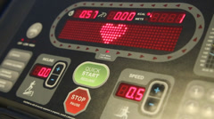 Treadmill monitor with heart beat shape Stock Footage