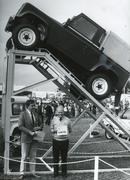 Newbury Agricultural Show stand, 1980s - stock photo