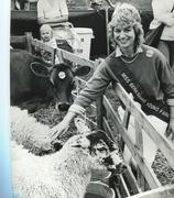 Miss Berkshire Young Farmer at Newbury Show, 1980s - stock photo