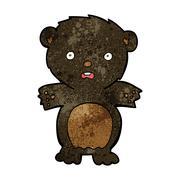 Stock Illustration of frightened black bear cartoon