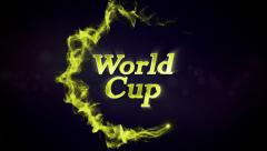 World Cup Text in Particles Stock Footage