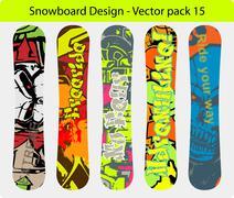 Snowboard design pack 15 Piirros