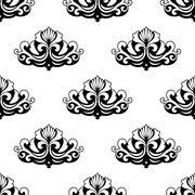 ornamental seamless pattern - stock illustration