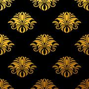 Stock Illustration of golden floral seamless pattern