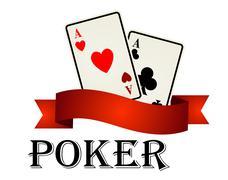 Poker label or emblem Stock Illustration