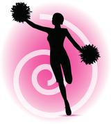 Eps 10 vector illustration of funky cheerleader silhouette Piirros