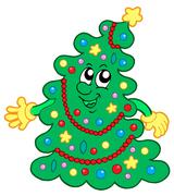 Happy Christmas tree Piirros