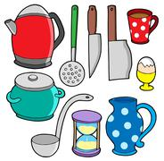 Domestics collection  - stock illustration