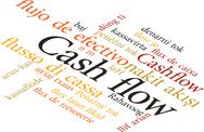 Stock Illustration of word cash flow in wordclouds isolated on white background