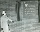 Stock Photo of Queen Elizabeth 11 opens Shire Hall, Berkshire, 1982
