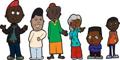 Family Problems Stock Illustration