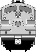 Modern locomotive Stock Illustration