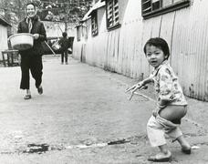Stock Photo of Vietnamese refugee camp, Honk Kong, 1980s