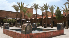 Place des Ferblantiers, Marrakesh Medina old walled city centre Morocco Stock Footage