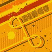 Grunge Disco Background Stock Illustration