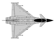 Eurofighter Typhoon - stock illustration