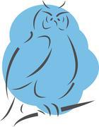 Cartoon Owl - stock illustration