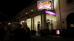 London England Theatre and Nightlife in Covent Garden Stock Footage