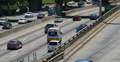 4K Freeway Traffic 21 Los Angeles Downtown Footage
