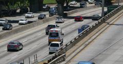 4K Freeway Traffic 21 Los Angeles Downtown Stock Footage