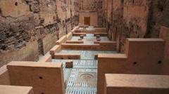 El Badi Palace, Marrakech, Morocco Stock Footage