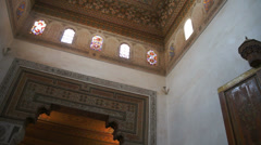 Amazing architecture at the Dar Si Said in Marrakech, Morocco Stock Footage