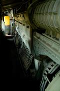 Old locomotive interior - stock photo
