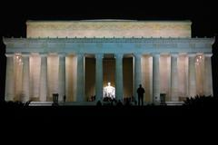 Stock Photo of Lincoln Memorial at night