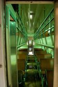 Interior of old passenger car - stock photo