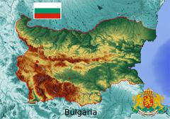 Bulgaria map flag coat Stock Illustration