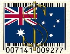 Australia currency - stock illustration