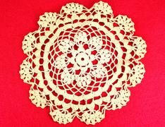 Embroidery doily - stock photo