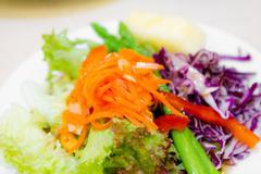 Fresh vegetables salad in dish Stock Photos