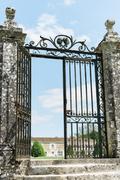 Large Wrought Iron Gate Stock Photos