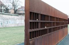 Section of Berlin Wall and Memorial - stock photo