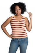 black girl attitude - stock photo