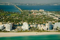 Miami city beach Stock Photos