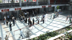 Crowd people hurry business walking timelapse Stock Footage