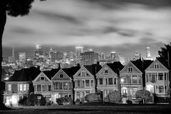 San Francisco skyline from Alamo Square Stock Photos