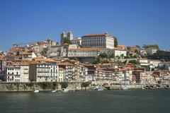 The old city of Oporto, on Douro river,Portugal,Europe Stock Photos