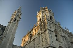 Jeronimos Monastery in Lisbon,the capital of Portugal,Europe - stock photo