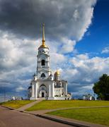 Assumption cathedral  at Vladimir in summer Stock Photos