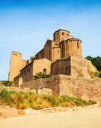 Castle of Cardona on summer day Stock Photos