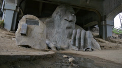 Fremont Bridge Troll Stock Footage