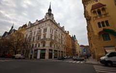 Street in   Prague, Czechia Stock Photos