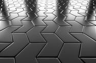 Stock Illustration of steel arrow blocks flooring perspective view
