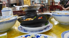 4k UHD time lapse video of Yi Wan Ju restaurant, Feng Tai District, Beijing Stock Footage